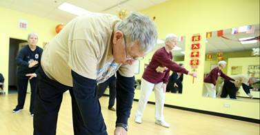 nonagenarians doing tai chi